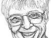 Bill Gates Pencil Caricature