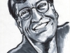 Bill Gates Head Tilted Caricature