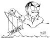John Howard Truth Overboard Caricature