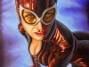 Catwoman Crouching 01 - Portrait Oil Painting