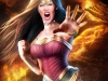 Wonder Woman at Volcano Pin-up