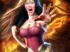 Wonder Woman at Volcano Pin-up