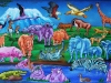 African Animals Nursery Mural Painting