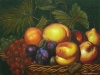 Caravaggio: Still Life with Fruit on a Stone Ledge Transcription Landscape Oil Painting