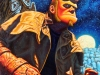 Hellboy at the Cemetry - Portrait Oil Painting