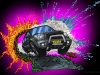The Urban Jungle Footpath - Toyota RAV4 Digital Illustration Painting