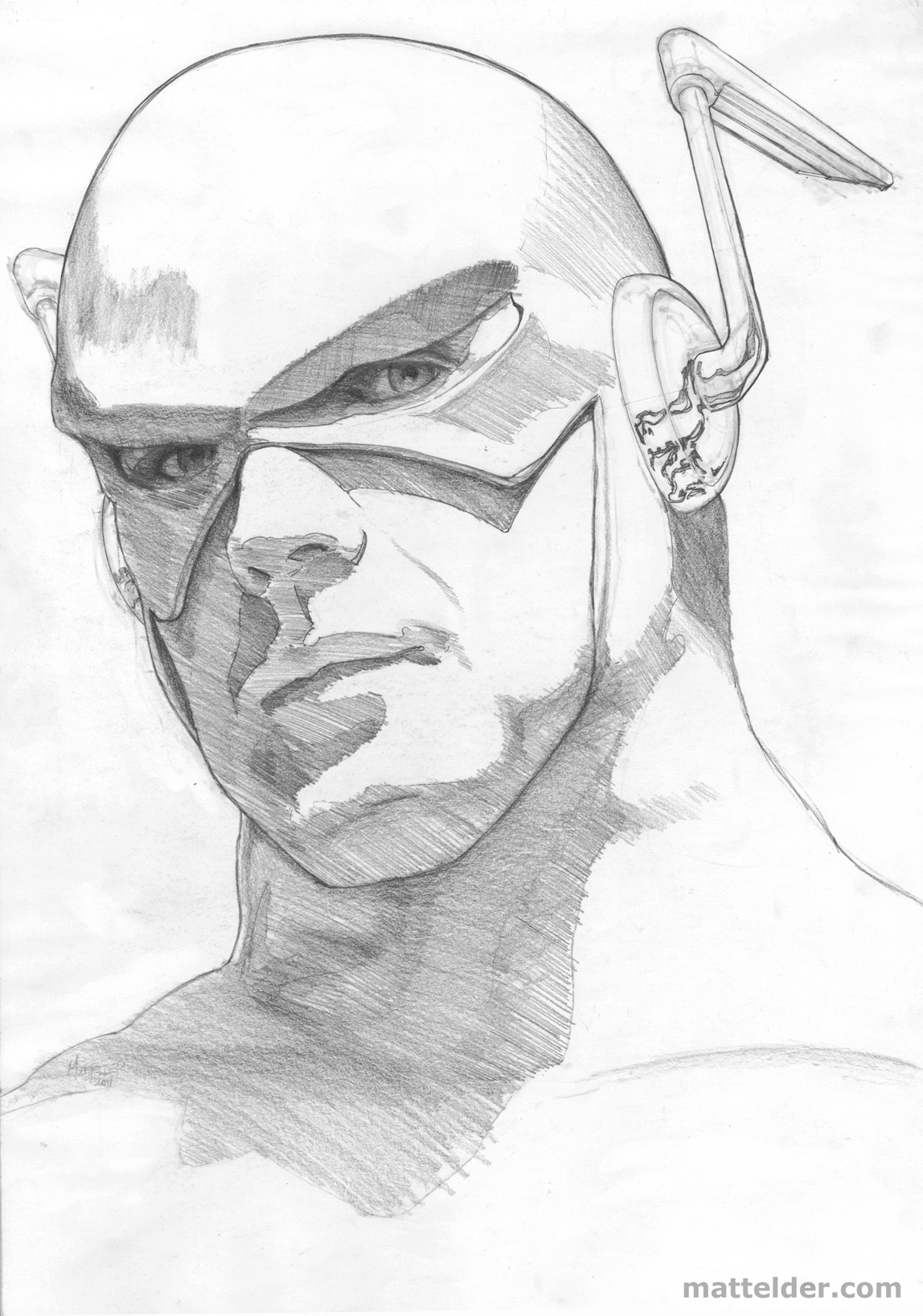 The Flash 01 Portrait Study Sketch