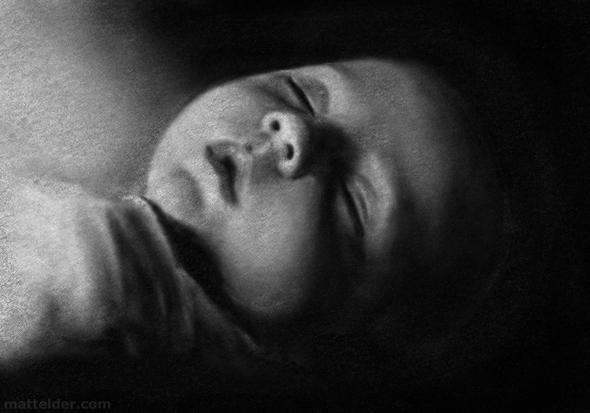 Baby Sleeping Portrait Study