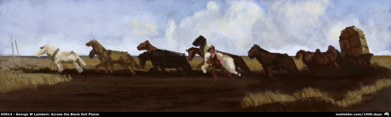0014 George W Lambert, Across the Black Soil Plains