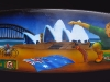 Australiana Between the Flags Airbrushed Surfboard
