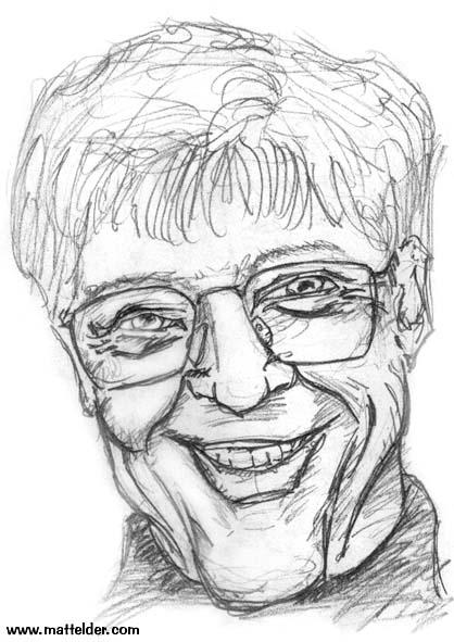 Bill Gates Pencil Caricature