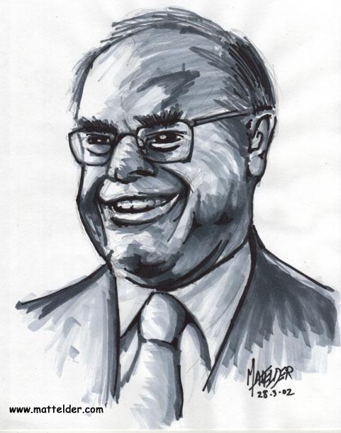 John Howard 3 Quarter Caricature