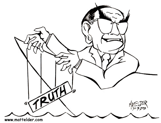 John Howard Truth Overboard Caricature