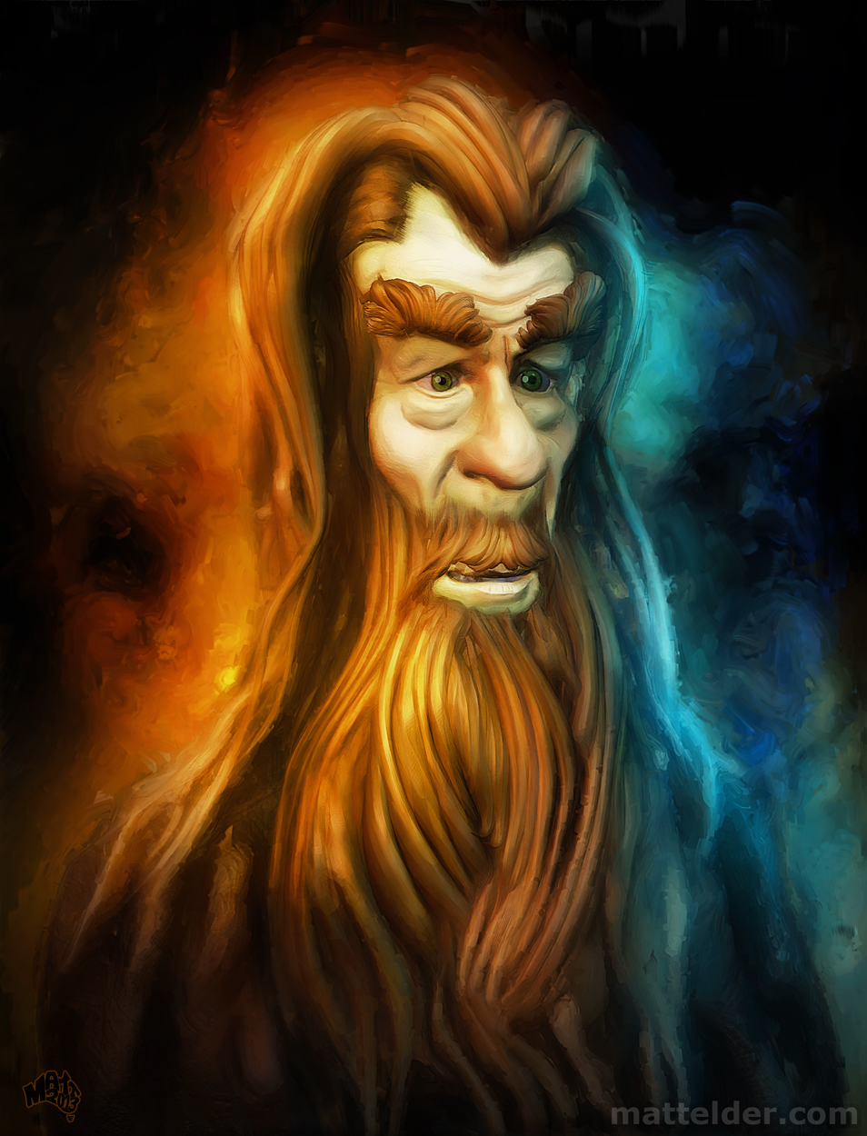 Gandalf - Ian McKellen Caricature Digital Art Piece