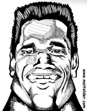 Arnold Schwarzenegger Head Caricature