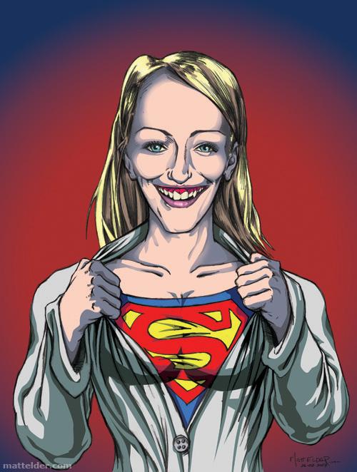 Super Girl Friend Caricature