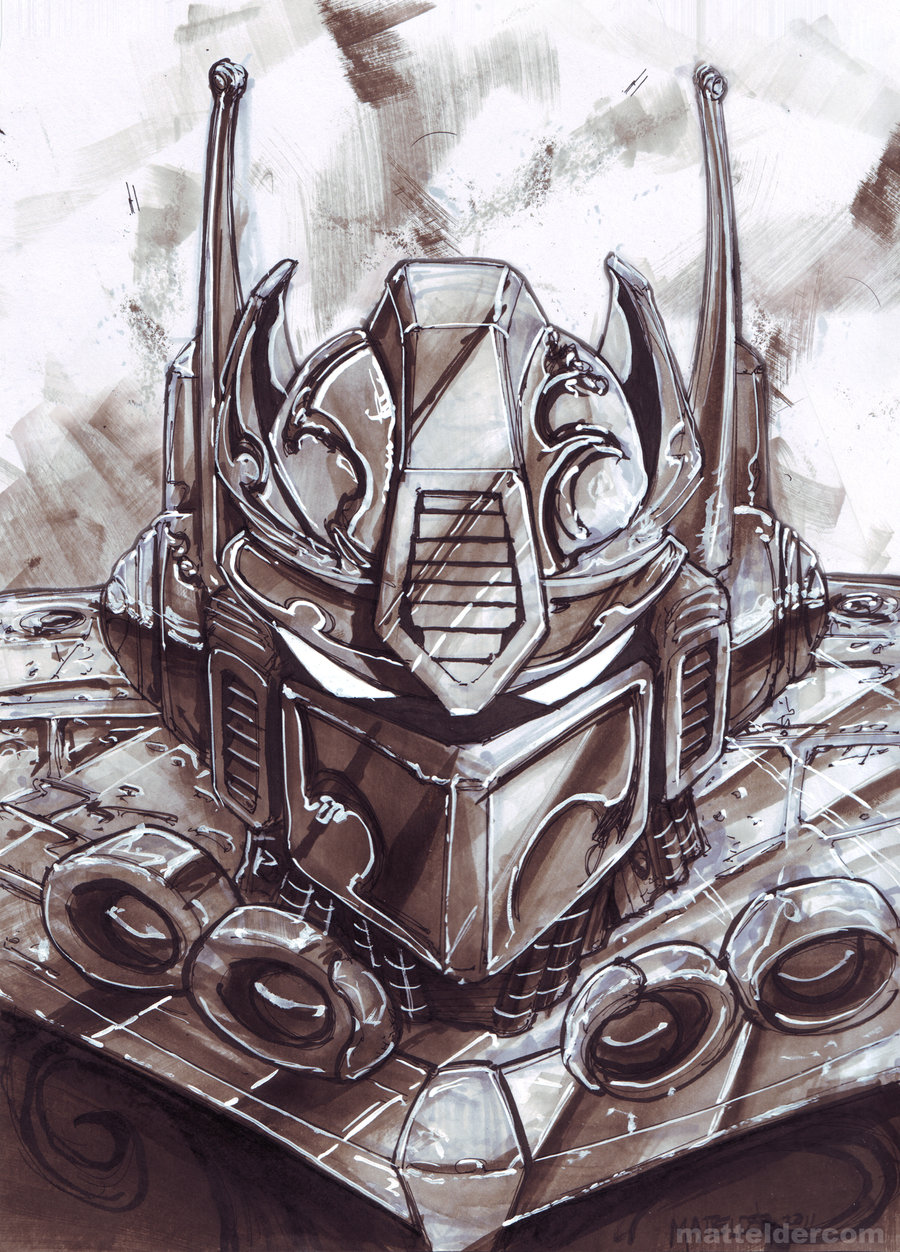 Optimus Prime Transformer Marker Sketch