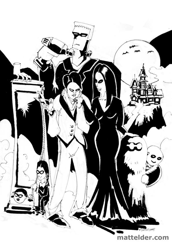 Addams Family Illustration