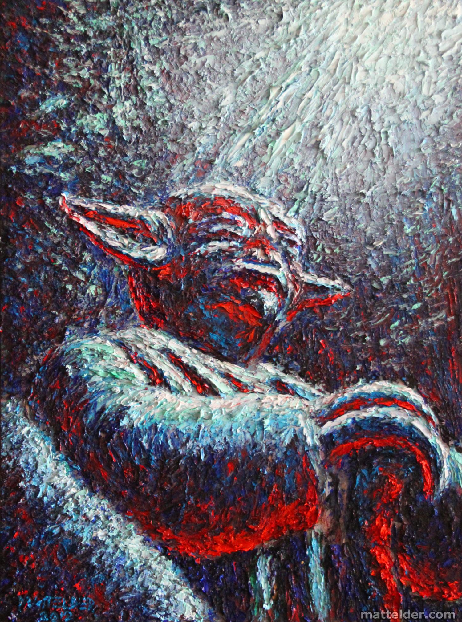 Yoda on Dagobah - Oil Painting