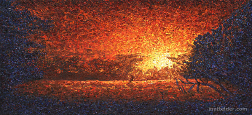 And The Son Will Rise Another Day - Landscape Oil Painting