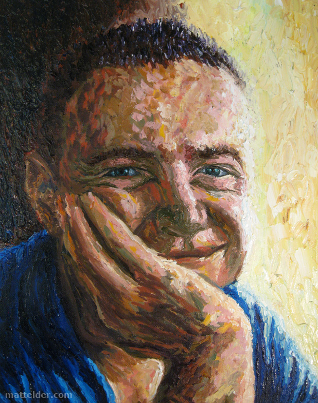 Good Afternoon - Self Portrait Oil Painting