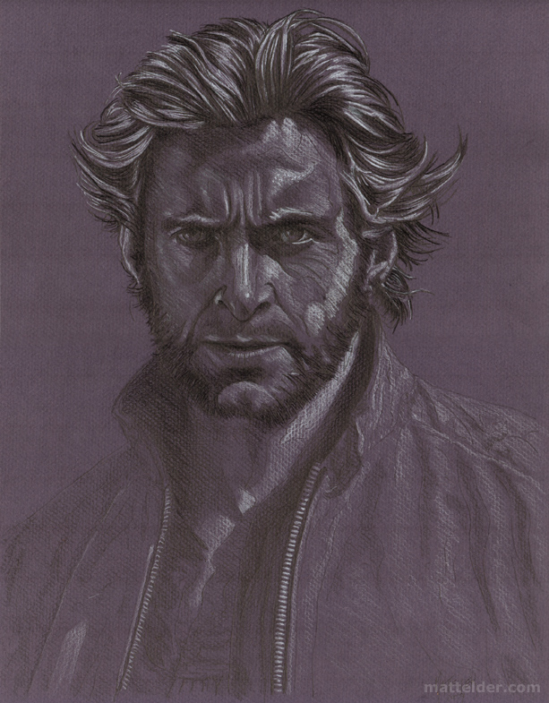 Hugh Jackman As Wolverine - Portrait Pencil Drawing