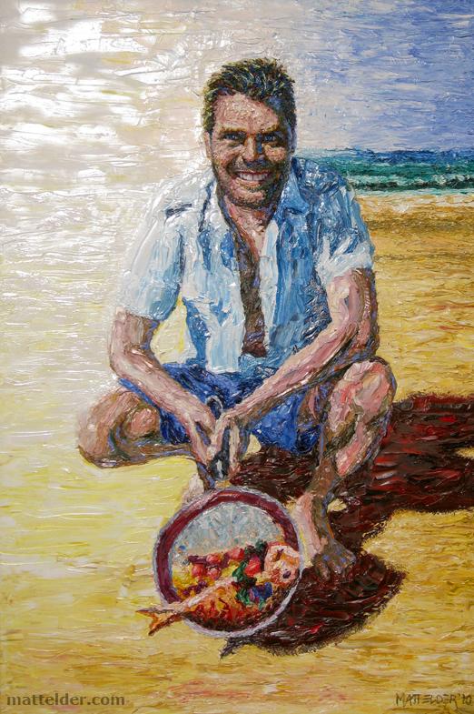 Peter Evans - Chef / Restaurateur / Television Personality - Oil Portrait Painting