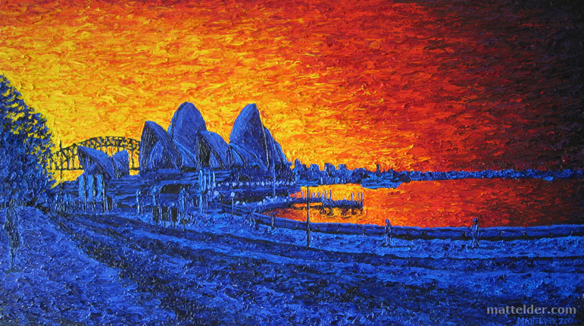 Sydney Harbour - Landscape Oil Painting