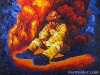 Unknown Heroes: Firefighter - Oil Portrait Painting