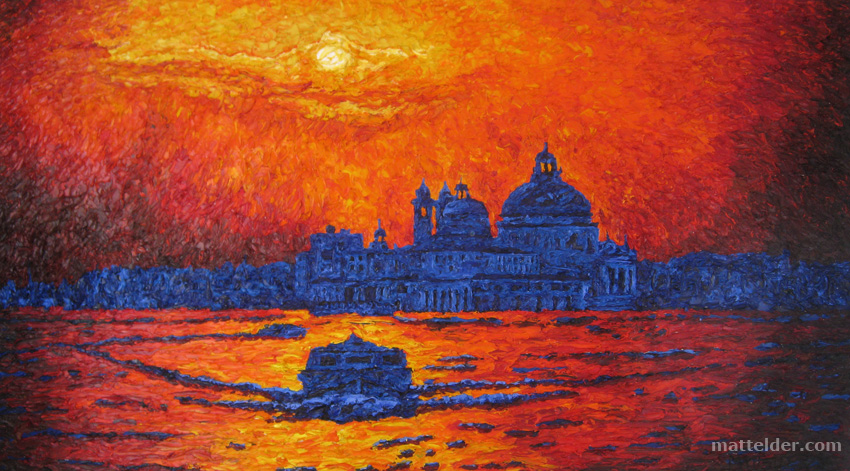 Venice (Large Version) - Landscape Oil Painting