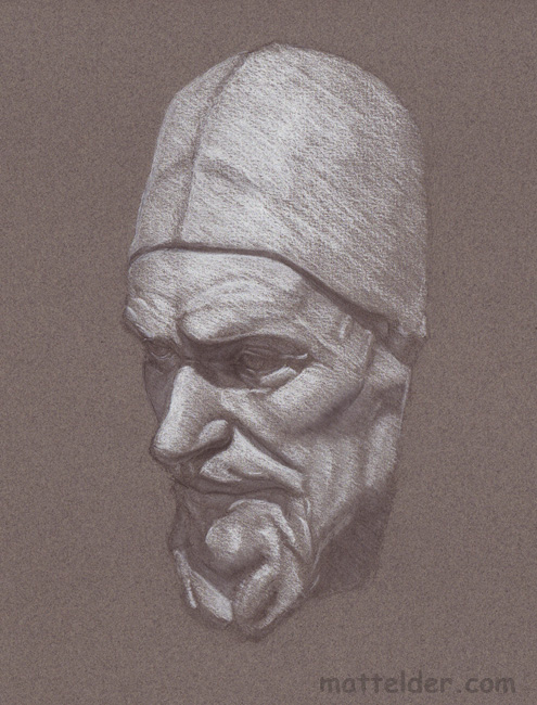 castdrawingpopewithhat