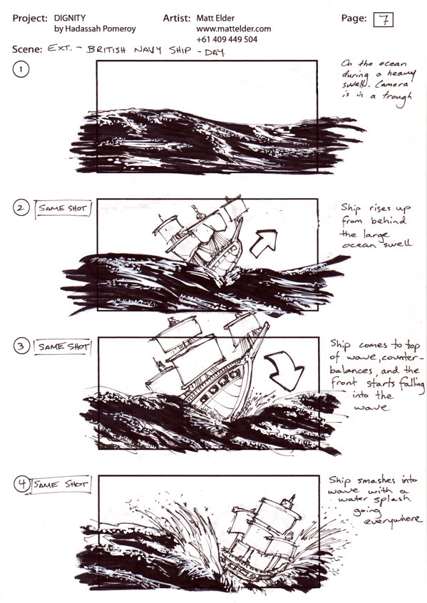 Dignity Storyboards Scene 04 Boards 01 - 04