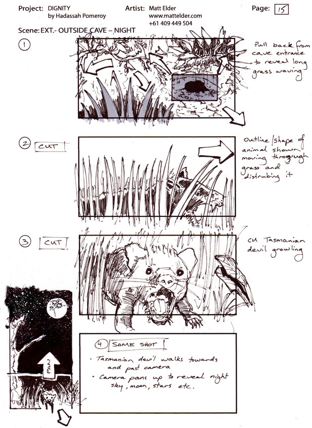 Dignity Storyboards Scene 08 boards 01 - 04