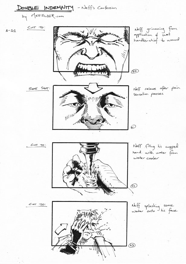Double Indemnity Storyboards Neff\'s Confession 60-63