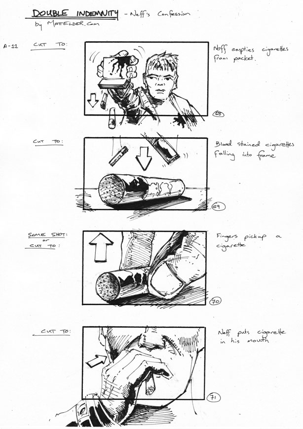 Double Indemnity Storyboards Neff\'s Con 68-71