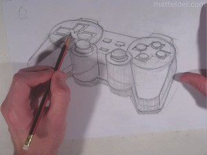 Matt Elder Playstation Controller Drawing