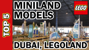 TOP 5 LEGOLAND Dubai Miniland Models - Indoor Walkthrough Tour of Iconic Buildings in LEGO