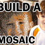 How to create a LEGO Mosaic Boy created with 1x1 Flat Tiles by mattelder.com