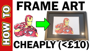 Video Thumbnail - How to Frame a Drawing at Home for Cheap 01