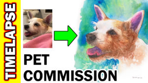 Video Thumbnail - Pet Portrait Timelapse Demonstration Pawtrait