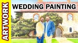 Video Thumbnail - Watercolor - Battel Hall at Leeds Castle Time Lapse Tube Art Wedding Painting