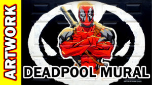 Video Thumbnail - 000317 Deadpool Mural 01 Acrylic Time Lapse Tube Art
